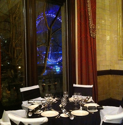 Hire Firefly for a corporate event overlooking the London Eye