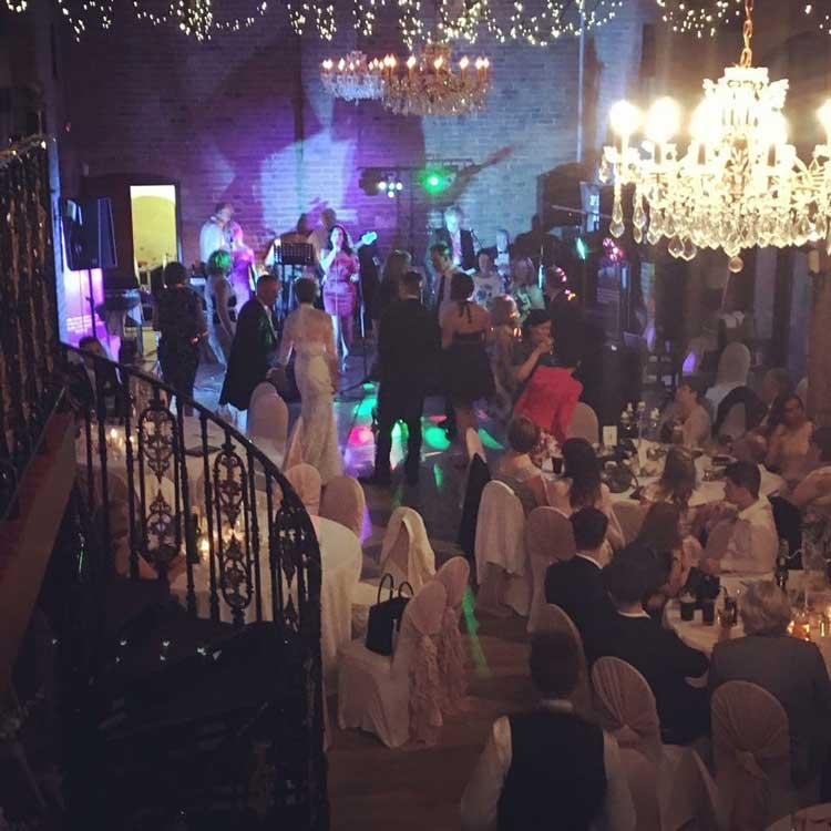 Wedding band reception venue