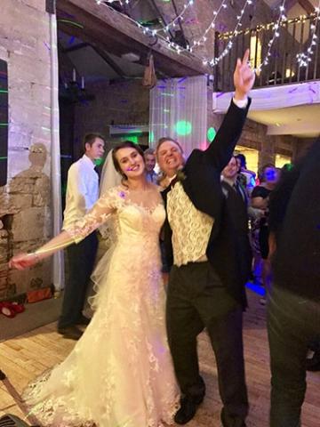 wedding band happy couple