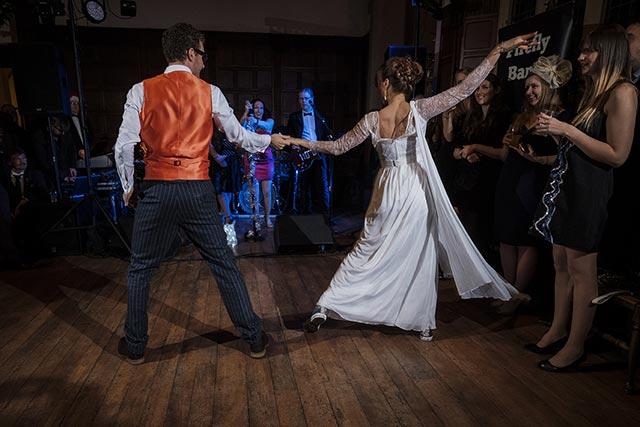 Wedding band bride and groom redforge