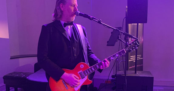 Dave Miles lead guitar Firefly Band Gloucester event and wedding band